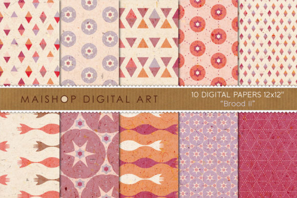 Print on Demand: Digital Paper Pack Brood Set 02 Graphic Patterns By Maishop