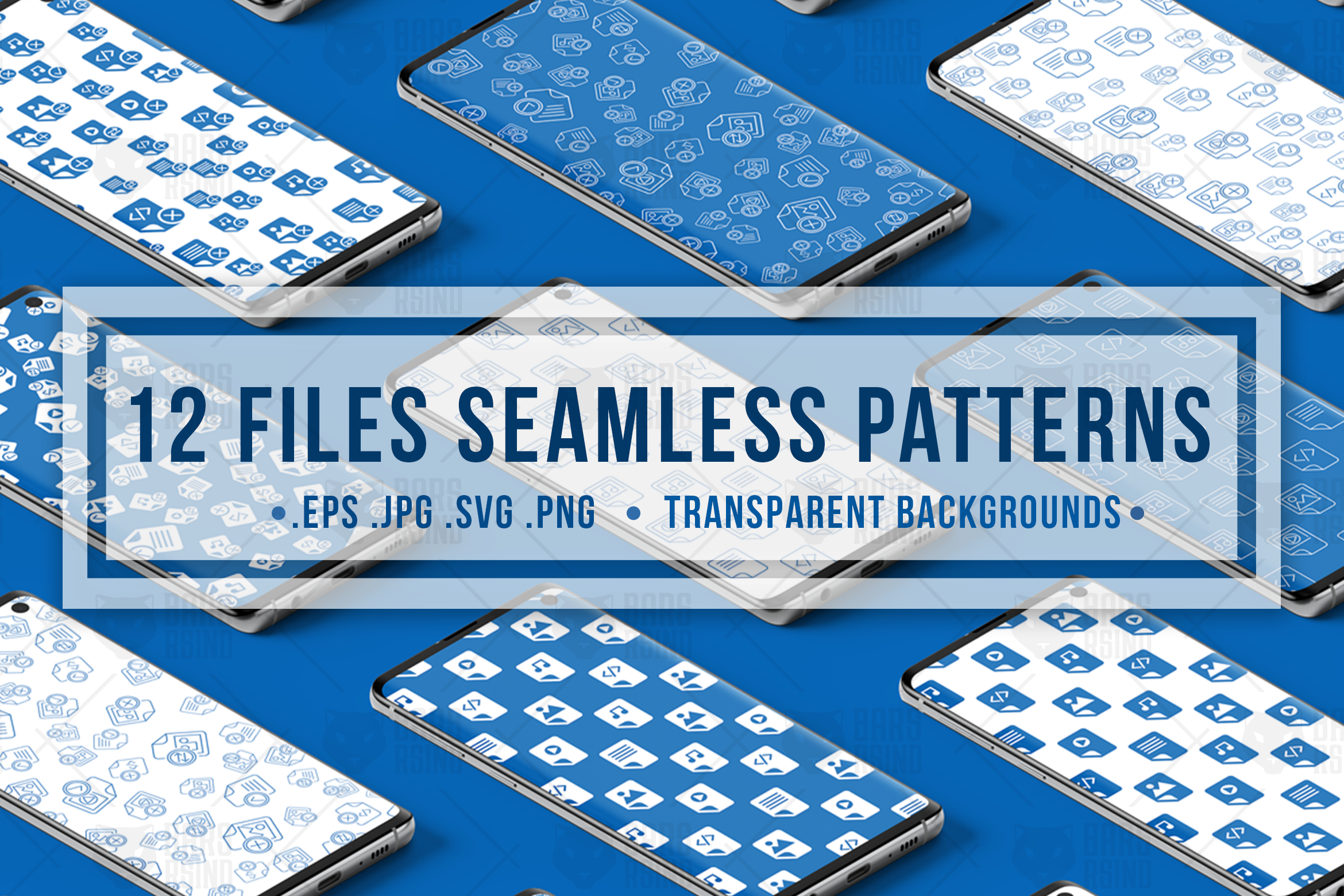 Download Free Document Files Seamless Patterns Set Graphic By Barsrsind for Cricut Explore, Silhouette and other cutting machines.