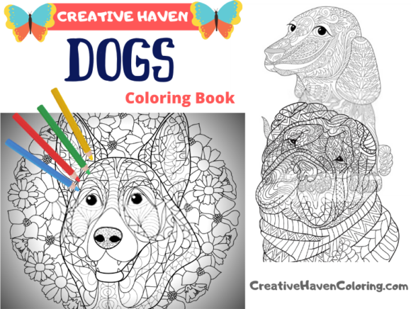 Dogs Coloring Book for Adults Graphic Coloring Pages & Books Adults By coloringpages