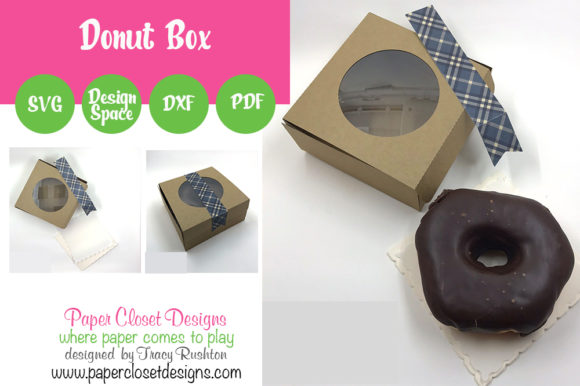 Print on Demand: Donut Box Graphic 3D SVG By rushton_tracy - Image 1