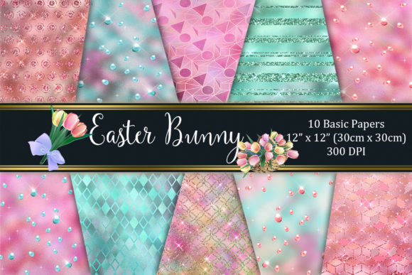 Easter Bunny Basic Paper Graphic Textures By Tara Artisan