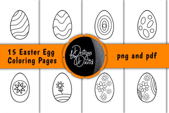 Print on Demand: Easter Egg Coloring Pages Graphic Coloring Pages & Books Kids By Designs By David