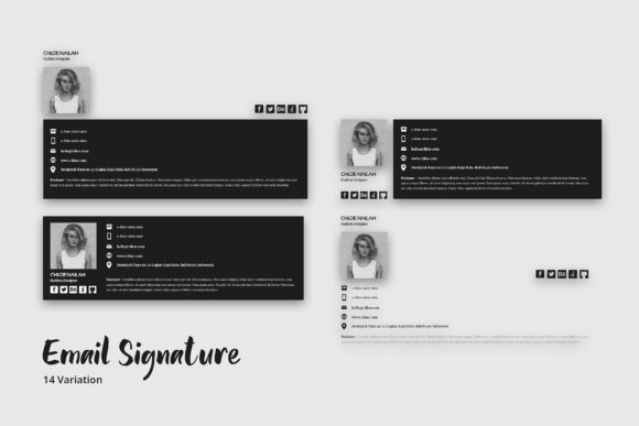Download Free Email Signature Template Graphic By Giant Design Creative Fabrica SVG Cut Files