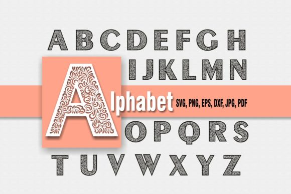 Print on Demand: Full Doodle Alphabet Design Graphic Objects By Eva Barabasne Olasz