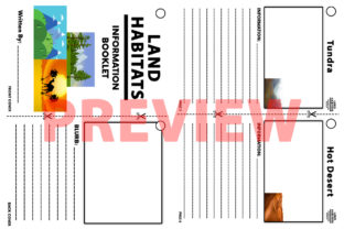 Habitats Student Research Booklet Graphic 4th grade By Saving The Teachers