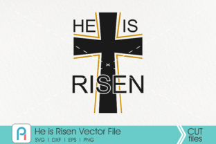 Download Free He Is Risen Jesus Easter Graphic By Pinoyartkreatib Creative for Cricut Explore, Silhouette and other cutting machines.