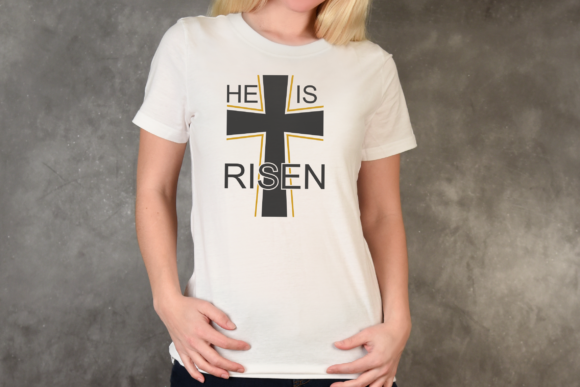 Download Free He Is Risen Jesus Easter Graphic By Pinoyartkreatib Creative Fabrica for Cricut Explore, Silhouette and other cutting machines.