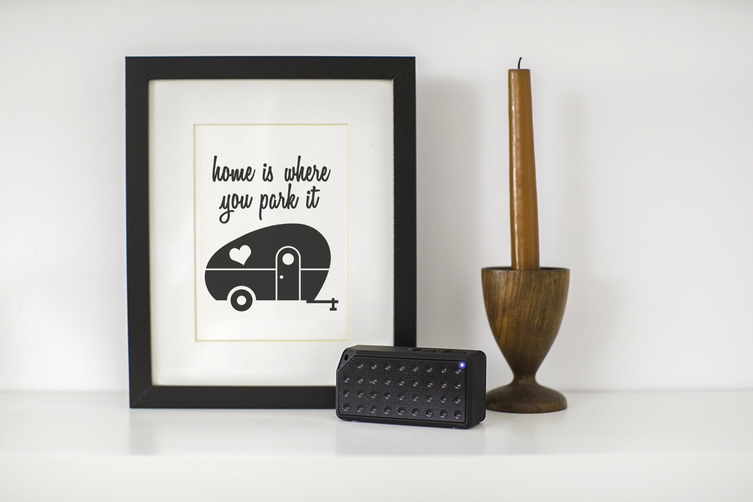 Home Is Where You Park It Retro Camper Graphic By
