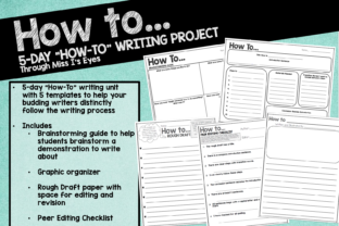 How-to Informational Writing Project Graphic 2nd grade By hi miss i