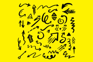 Print on Demand: Illustrated Arrow Doodle Collection Graphic Crafts By pixia