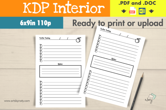 Print on Demand: KDP Interior the Peaches to-do List. Graphic KDP Interiors By artsbynaty