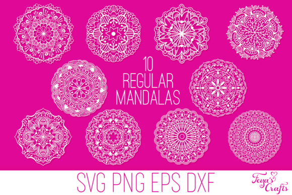 Download Free Mandala Bundle Graphic By Anastasia Feya Creative Fabrica for Cricut Explore, Silhouette and other cutting machines.