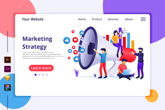 Marketing Strategy Landing Page Graphic Landing Page Templates By agnyhasya.studios