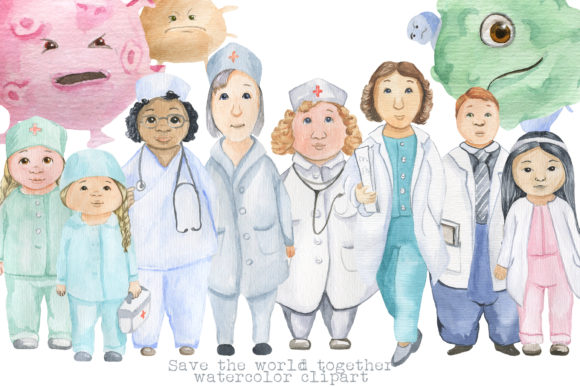 Print on Demand: Medical Characters Graphic Illustrations By laffresco04