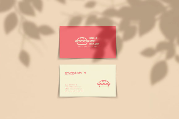 Download Free Minimal Bakery Business Card Template Graphic By Creative Tacos for Cricut Explore, Silhouette and other cutting machines.