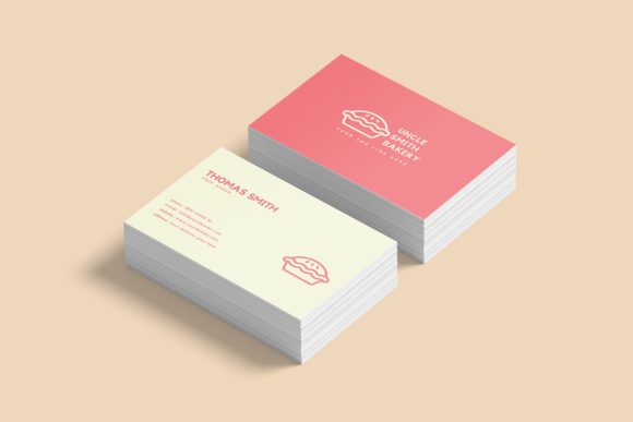 Download Free Minimal Bakery Business Card Template Grafico Por Creative Tacos for Cricut Explore, Silhouette and other cutting machines.