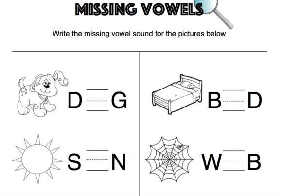 Missing Vowels Graphic K By Lory_araujo