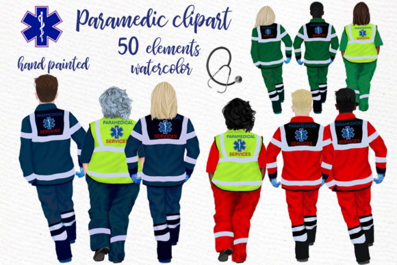 Paramedic Clipart First Responders Graphic Illustrations By LeCoqDesign