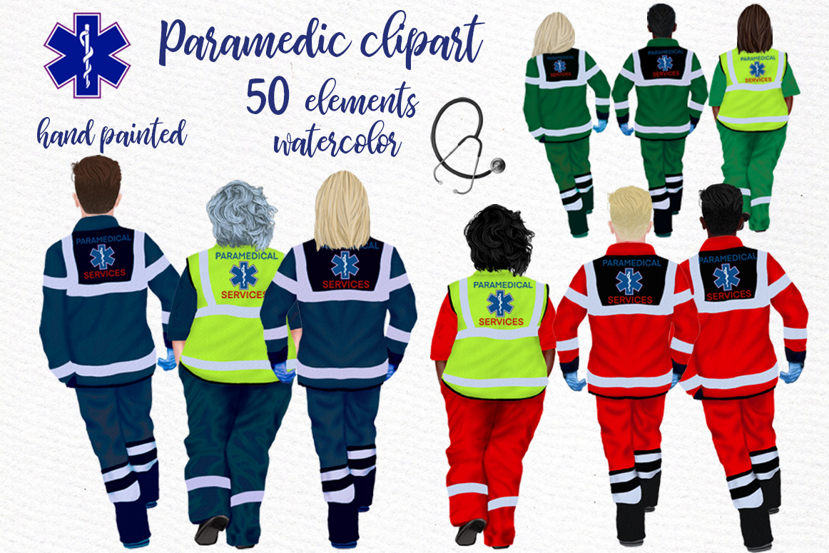 Download Free Paramedic Clipart First Responders Graphic By Lecoqdesign for Cricut Explore, Silhouette and other cutting machines.