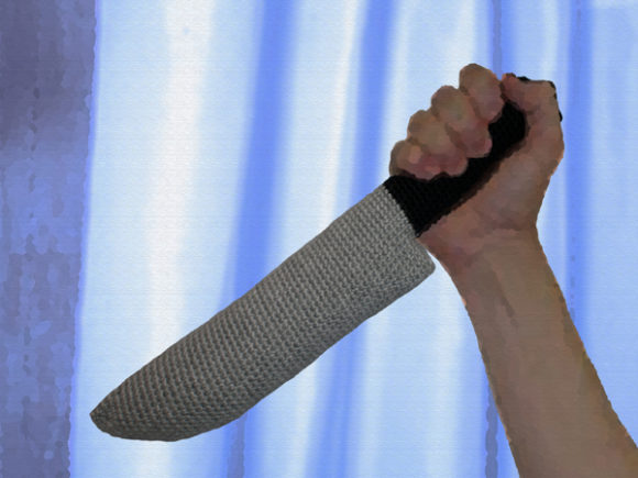 Download Free Psycho Knife Crochet Pattern Grafico Por Knit And Crochet Ever for Cricut Explore, Silhouette and other cutting machines.