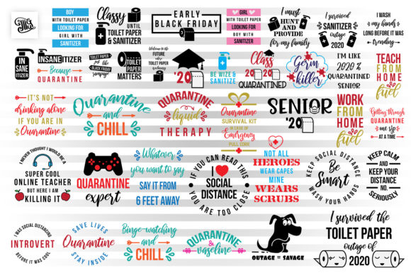 Download Free Quarantine Bundle Graphic By Illustrator Guru Creative Fabrica for Cricut Explore, Silhouette and other cutting machines.
