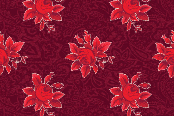 Download Free Red Rose Bouquet Pattern Graphic By Emikundesigns Creative Fabrica for Cricut Explore, Silhouette and other cutting machines.
