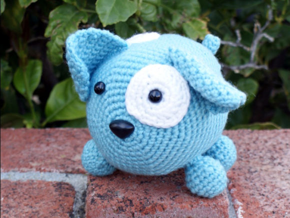 Roly Poly Doggy Crochet Pattern Graphic