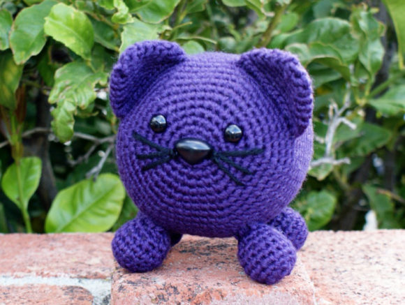 Roly Poly Kitty Crochet Pattern Graphic