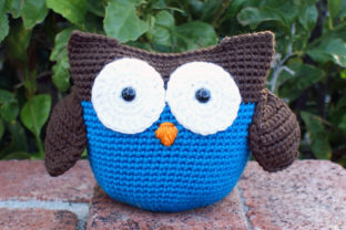 Roly Poly Owl Crochet Pattern Gráfico Patrones de crochet Por Knit and Crochet Ever After 1