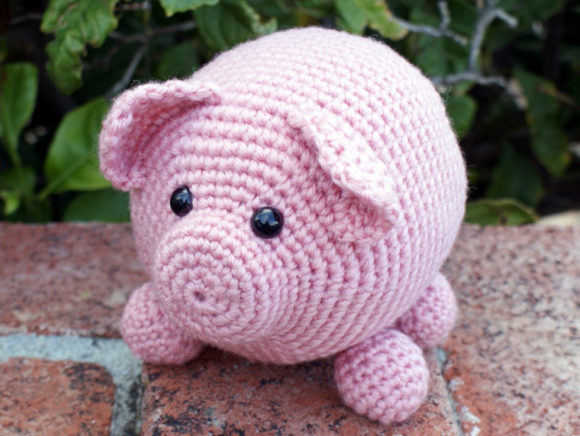 Roly Poly Piggy Crochet Pattern Graphic Crochet Patterns By Knit and Crochet Ever After