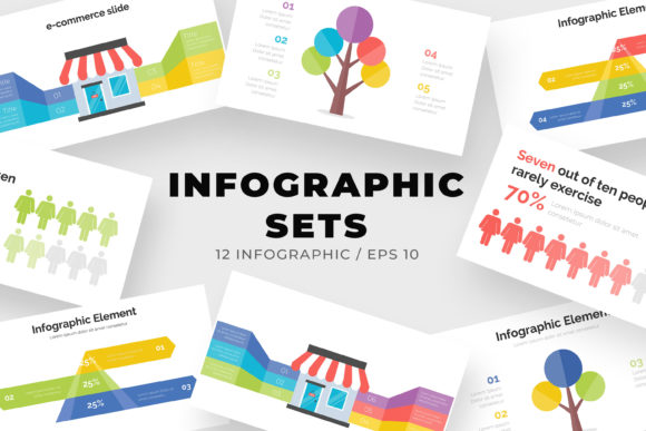 Download Free Set Of Modern Infographic Template Graphic By Ongy Creative for Cricut Explore, Silhouette and other cutting machines.