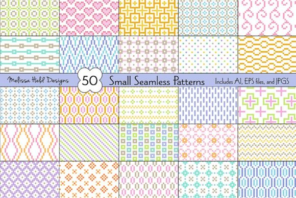 Small Seamless Geometric Patterns Graphic Patterns By Melissa Held Designs