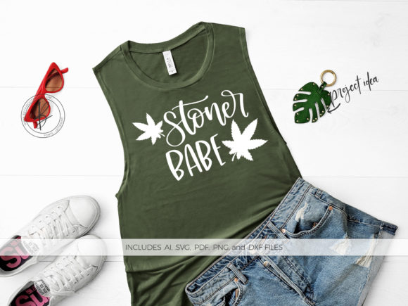 Download Free Stoner Babe Graphic By Beckmccormick Creative Fabrica for Cricut Explore, Silhouette and other cutting machines.