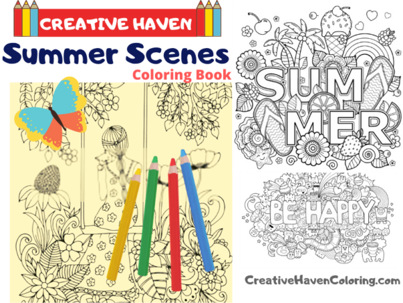 Summer Scenes Coloring Book for Adults Graphic Coloring Pages & Books Adults By coloringpages