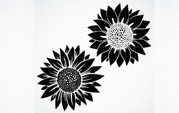 Download Free Sunflower Clipart Flower Graphic By Svg Den Creative Fabrica for Cricut Explore, Silhouette and other cutting machines.