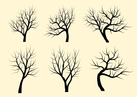 Download Free Trees Silhouettes Set Graphic By Americodealmeida Creative Fabrica for Cricut Explore, Silhouette and other cutting machines.