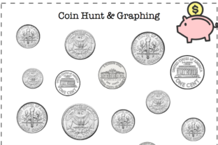 US Coin Hunt & Graphing Graphic K By Lory's Kindergarten Resources!