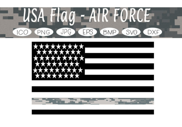 Download Free Usa Flags Air Force Graphic By Capeairforce Creative Fabrica for Cricut Explore, Silhouette and other cutting machines.