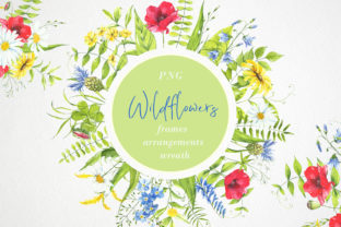 Download Free Watercolor Flower Clipart Wildflowers Graphic By Angela for Cricut Explore, Silhouette and other cutting machines.