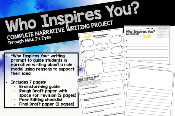 Download Free Who Inspires You Narrative Writing Graphic By Hi Miss I for Cricut Explore, Silhouette and other cutting machines.