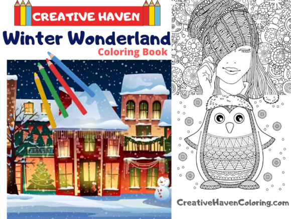 Winter Wonderland Coloring Book Graphic Coloring Pages & Books Adults By coloringpages