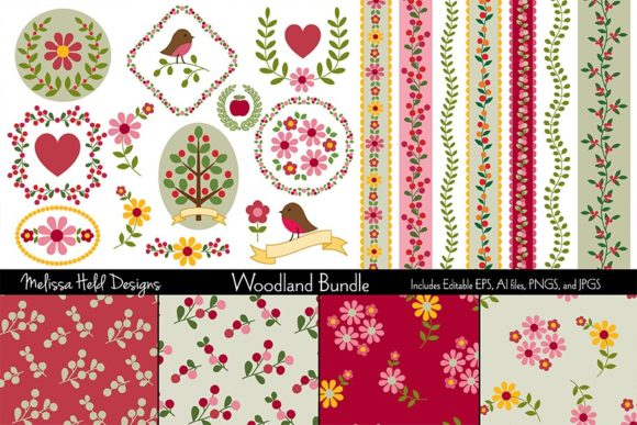 Woodland Bundle Graphic Patterns By Melissa Held Designs