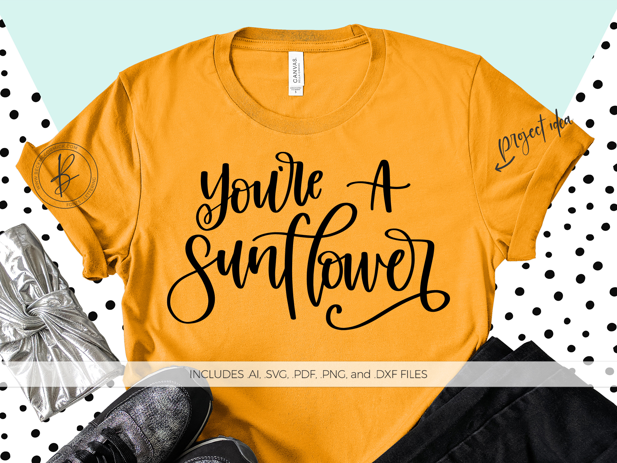 Download Free You Re A Sunflower Graphic By Beckmccormick Creative Fabrica SVG Cut Files