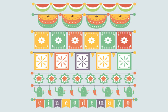 Download Free Cinco De Mayo Collection Colorful Graphic By Aprlmp276 for Cricut Explore, Silhouette and other cutting machines.