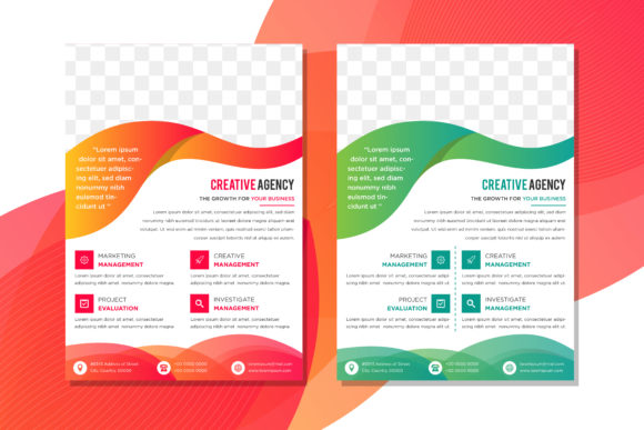 Download Free Gradient Green Red Vertical Flyer Graphic By Noory Shopper for Cricut Explore, Silhouette and other cutting machines.