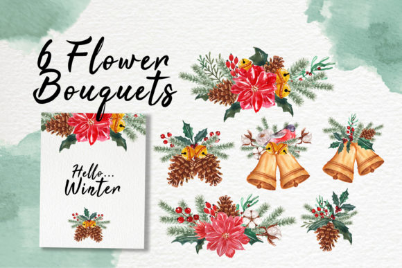 Print on Demand: Hello Winter Watercolor Illustration Set Graphic Illustrations By OrchidArt - Image 2