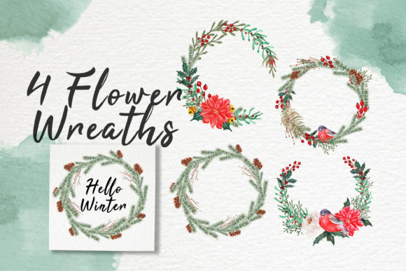 Print on Demand: Hello Winter Watercolor Illustration Set Graphic Illustrations By OrchidArt - Image 3