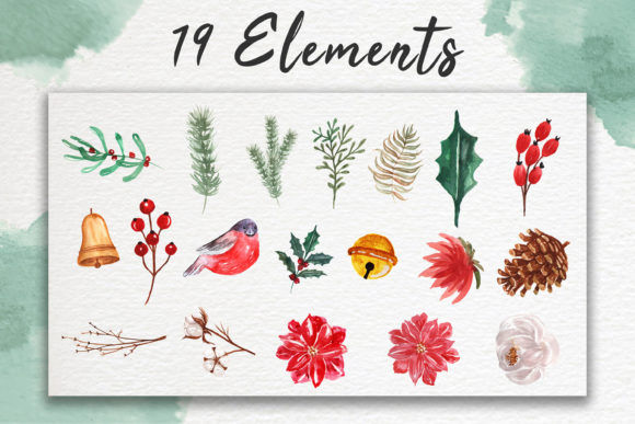Print on Demand: Hello Winter Watercolor Illustration Set Graphic Illustrations By OrchidArt - Image 5