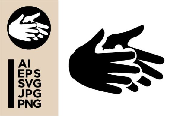 Print on Demand: Washing Hands Icon Graphic Icons By Masnung