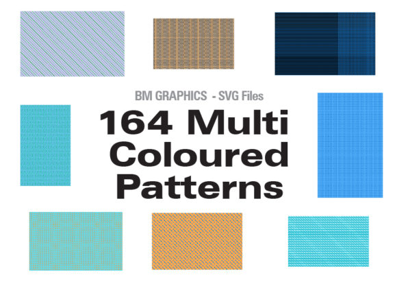Print on Demand: 164 Multi Coloured Patterns Graphic Backgrounds By GraphicsBam Fonts